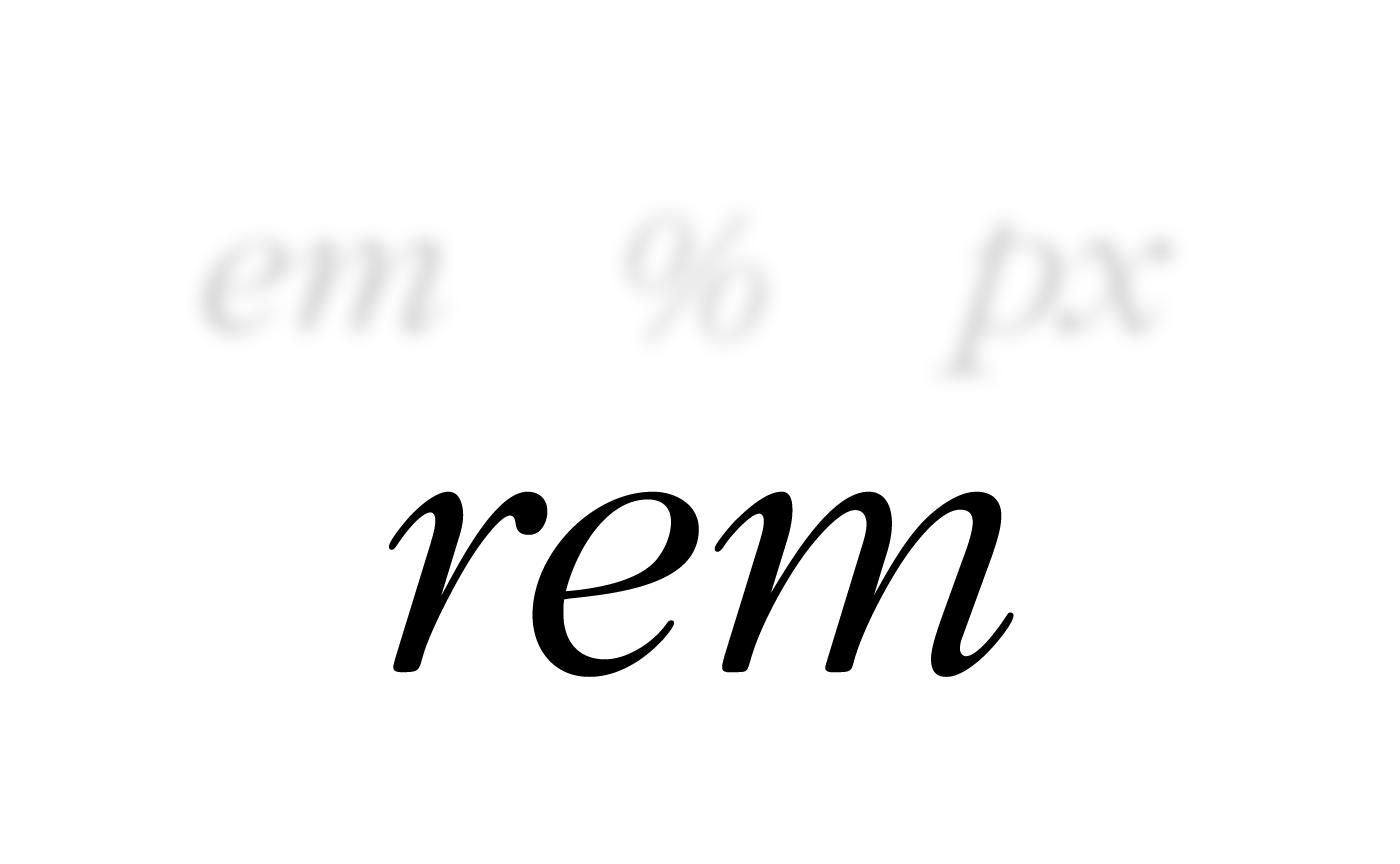 CSS rem