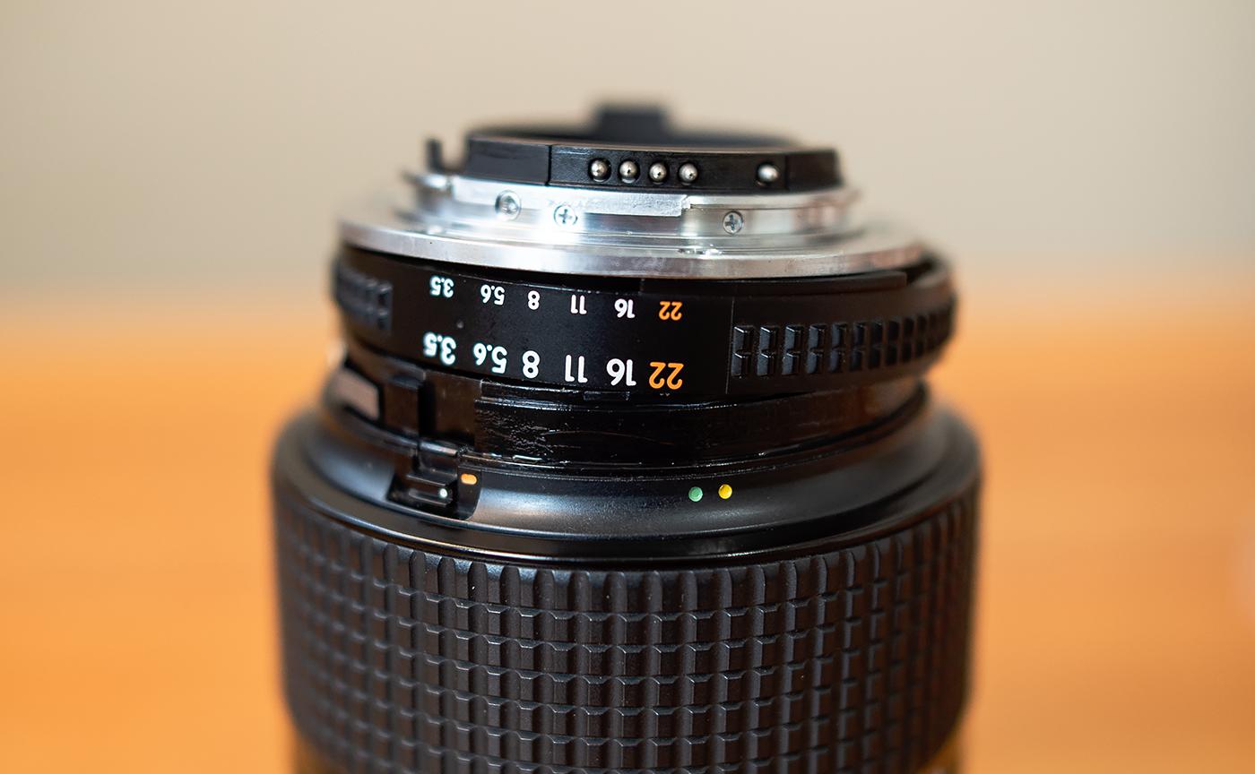 Ai AF Zoom Nikkor 28-105mm F3.5-4.5D 絞り環